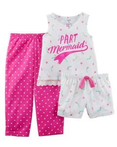 Carter's 3-Piece Neon Mermaid Poly PJs  Modelo 23879010