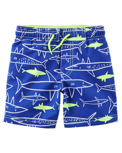 Carter's Neon Shark Swim Trunks  Modelo 240G043