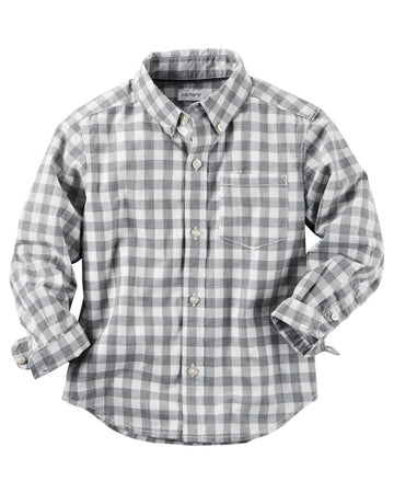 Carter's Poplin Checkered Button-Front Shirt  Modelo 243G625