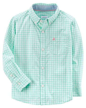 Carter's Checkered Poplin Button-Front Shirt  Modelo 243H520