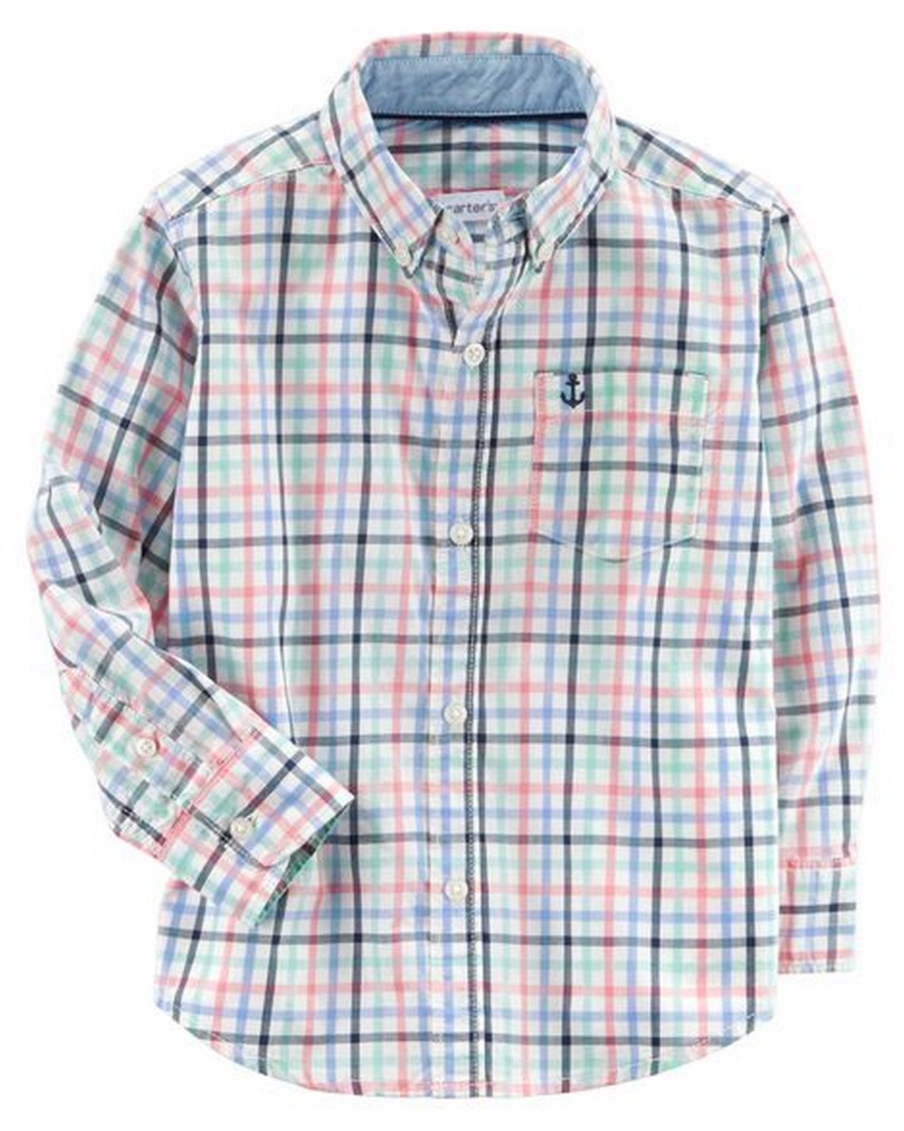 Carter's Plaid Poplin Button-Front Shirt  Modelo 243H522