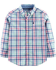 Carter's Plaid Poplin Button-Front Shirt  Modelo 243I203