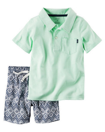 Carter's 2-Piece Polo & Canvas Short Set  Modelo 249G409