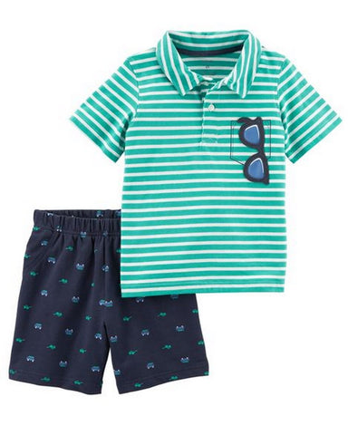 Carter's 2-Piece Polo & French Terry Short Set Modelo 249G638