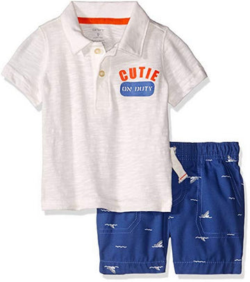 Carter 2 Pieces Kids Polo Set Short  Modelo 249G405