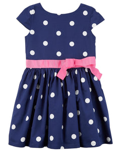 Carter's Polka Dot Bow Waist Dress  Modelo 251G476