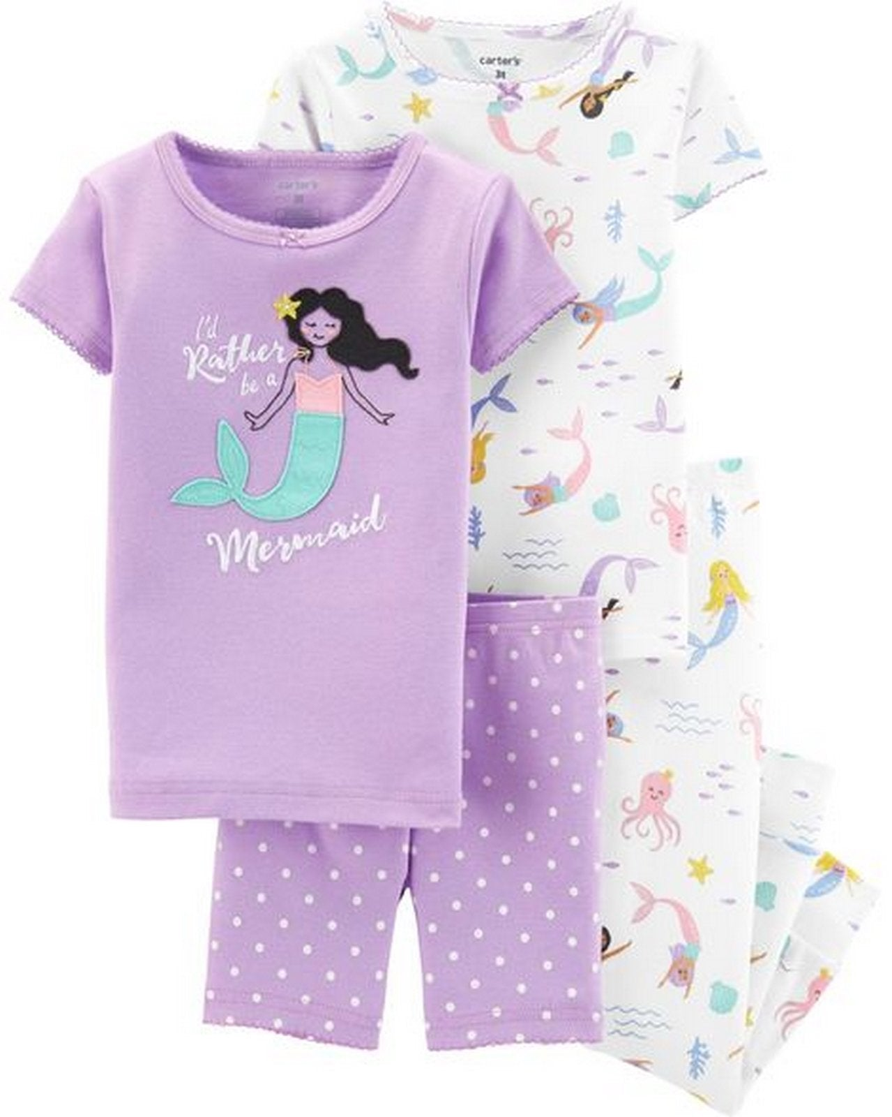Carter's 4-Piece Mermaid Snug Fit Cotton PJs  Modelo 26416313