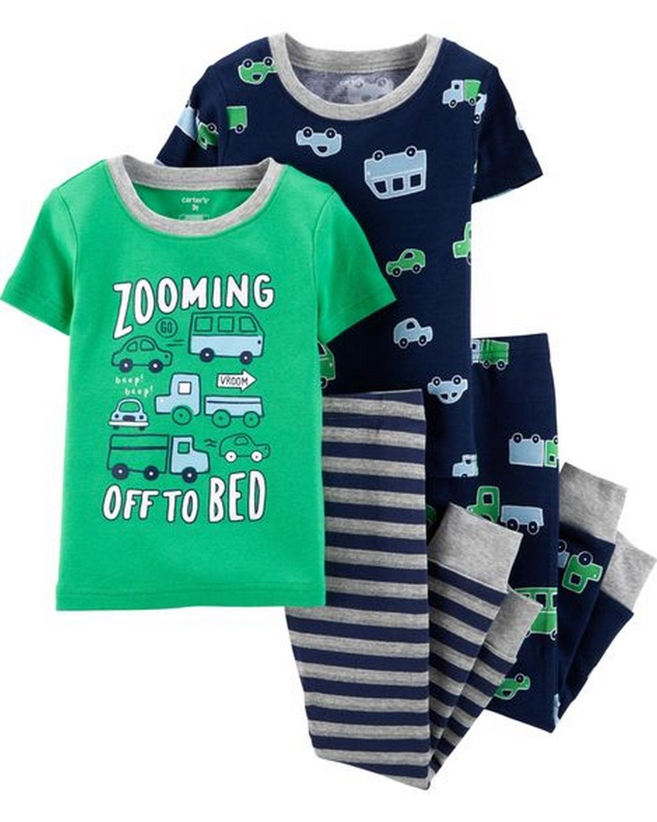 Carter's 4-Piece Cars Snug Fit Cotton PJs  Modelo 26484513