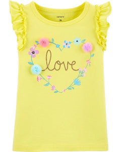 Carter's Toddler Girls Glitter Love Flutter Tank 2H413210
