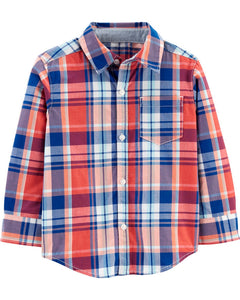 Carter's Toddler Boys Plaid Twill Button-Front Shirt 2H414110