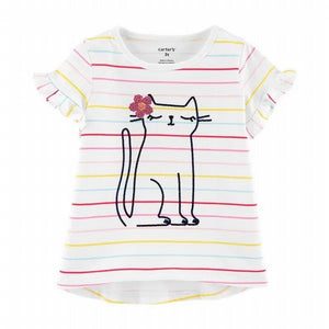 Carter's Toddler Girl's Cat S/S Tee 2H421610
