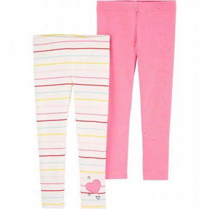 Carter's Toddler Girl's 2-Pack Striped Leggings 2H422210