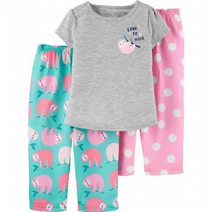 Carter's Toddler Girls 3 Piece Dinosaur Pajama Set 2H519010