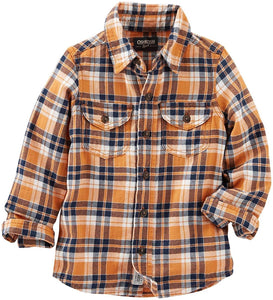 OshKosh 2-Pocket Plaid Button-Front Shirt  Modelo 31372310