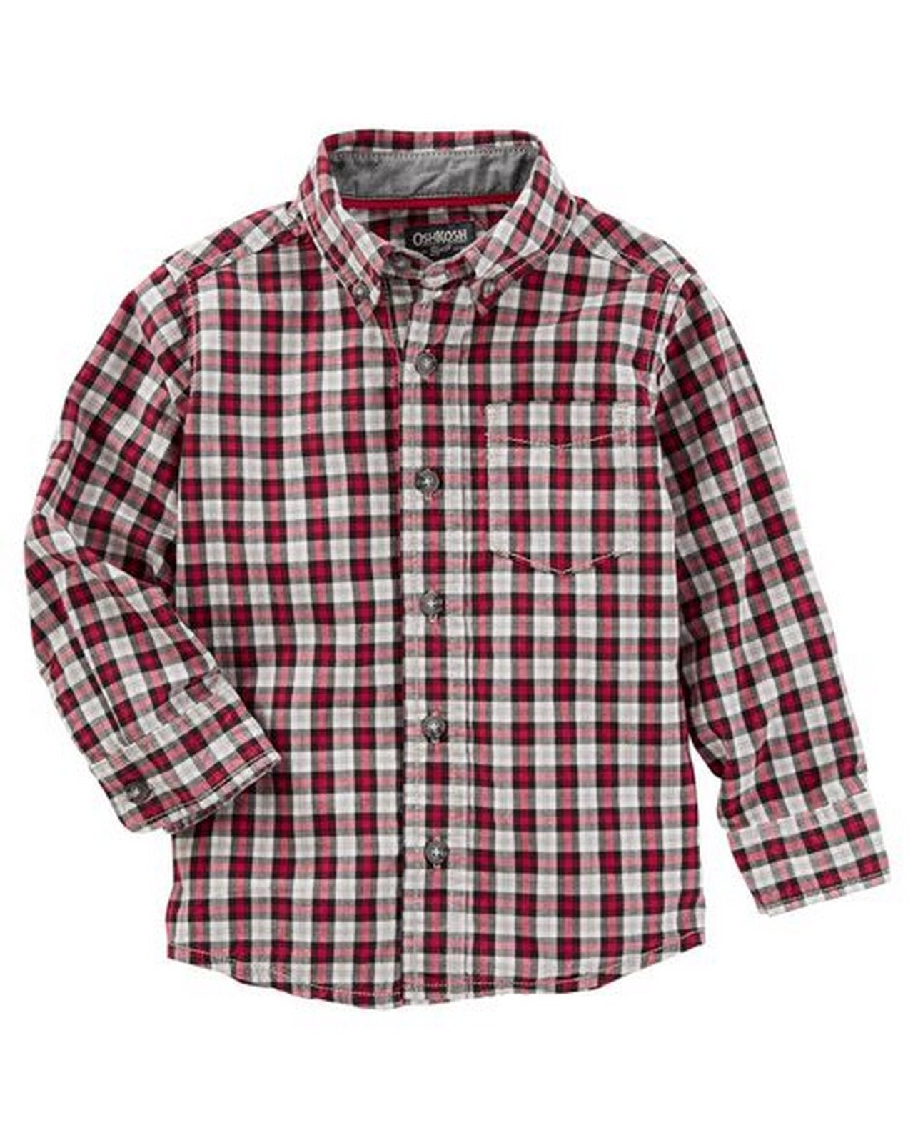 OshKosh Plaid Button-Front Shirt  Modelo 32421811