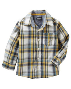 OshKosh Plaid Button-Front Shirt  Modelo 32424415