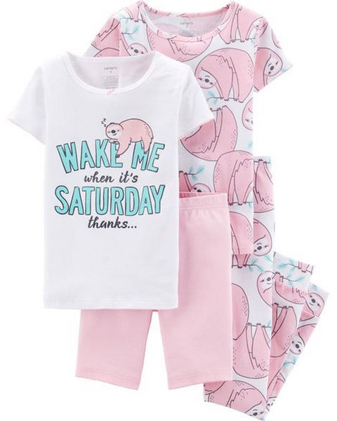 Carter's 4-Piece Sloth Snug Fit Cotton PJs  Modelo 36416510