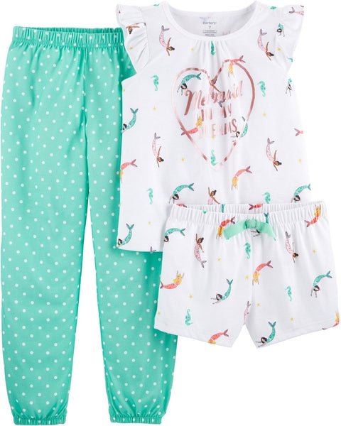 Carter's 3-Piece Mermaid Poly PJs  Modelo 36419312