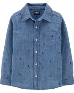 OshKosh Anchor Chambray Button-Front Shirt 3H186211