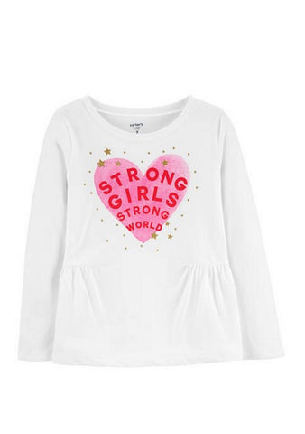 Carter's Glitter Strong Girls Strong World Peplum Top 3H457110