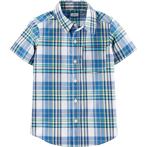 Carter's Plaid Poplin Button-Front Shirt 3H483310
