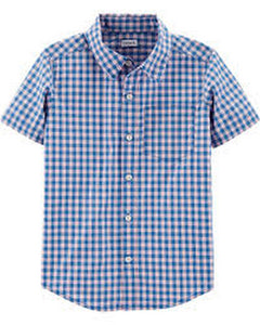 Carter's Plaid Poplin Button-Front Shirt 3H483510