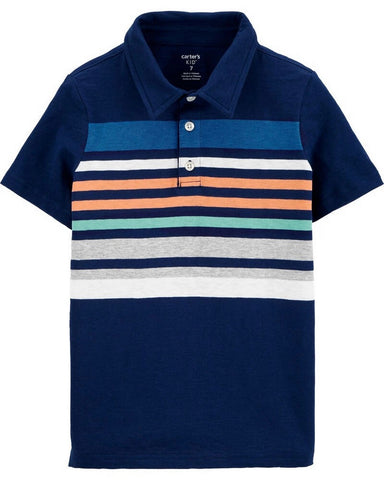 Carter's Striped Slub Jersey Polo 3H489410