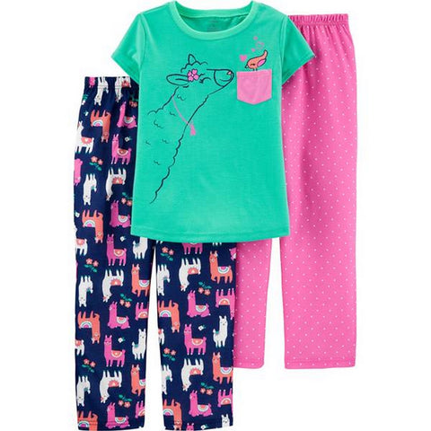 Carter's Little Girl's 3-Piece Dinosaur Poly PJs 3H519610
