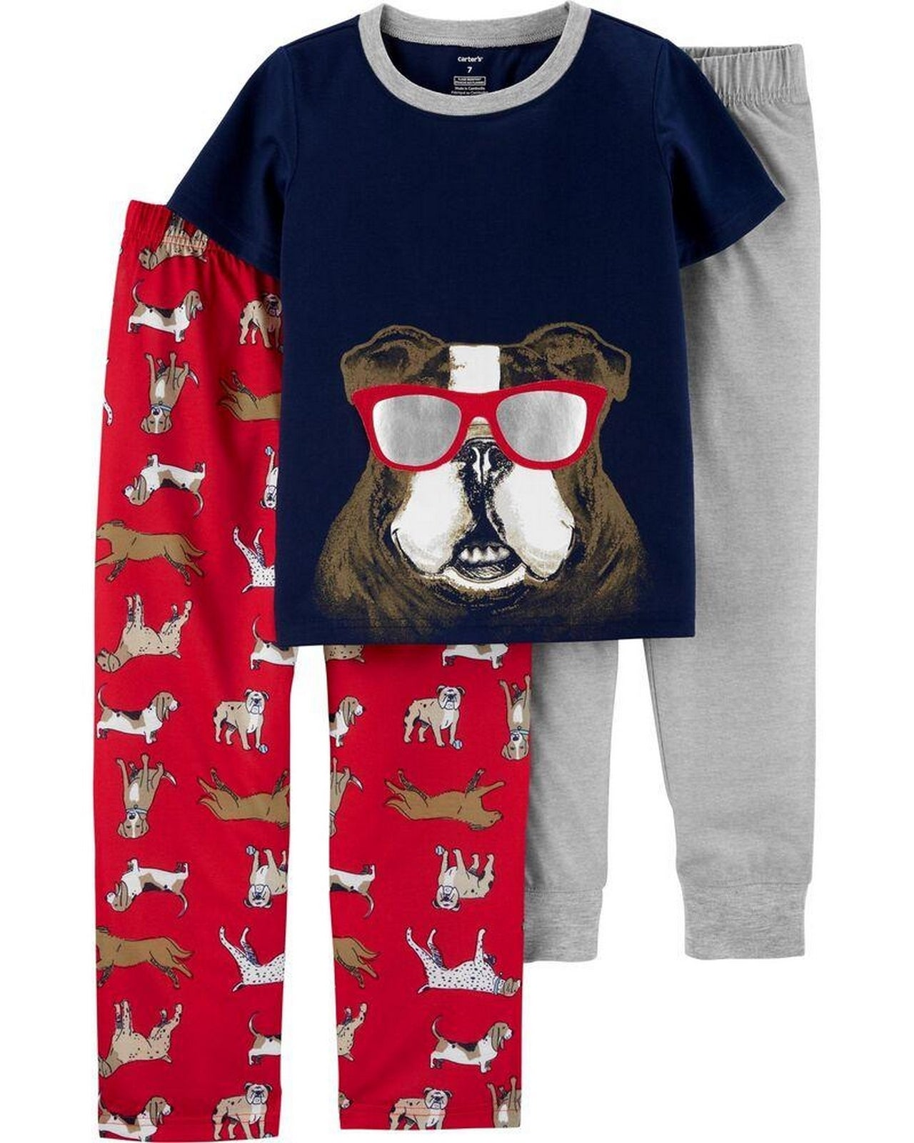 Carter's 3-Piece Dog Poly PJs 3H538510