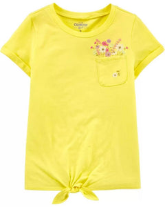 OshKosh Flower Tie-Front Pocket Tee 3I141811