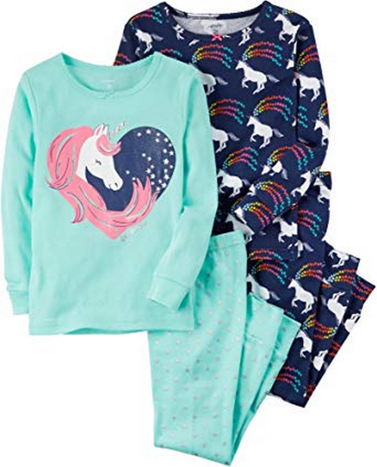 Carter's 4 Piece Unicorn Snug Fit Cotton Pajama  Modelo 43241211