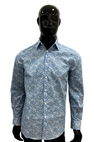 Perry Ellis Camisa Estampada Mangas Largas  4CSW4007-982