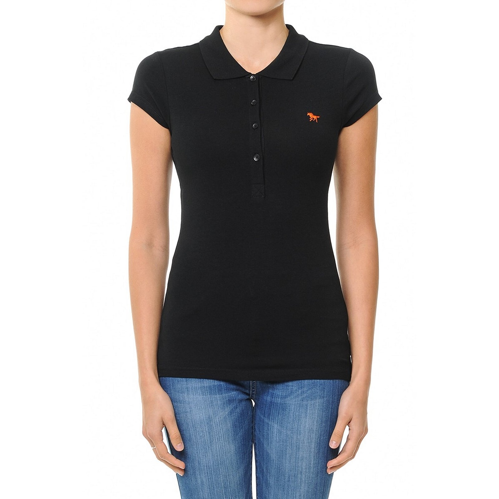 Ambiance Solid Polo Top  70086