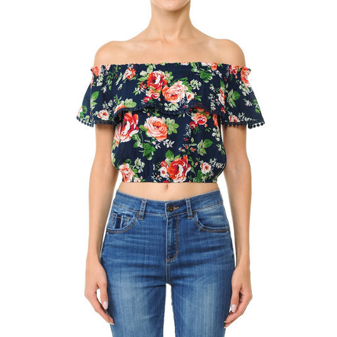Ambiance Blusa Floral   Modelo 70751-1