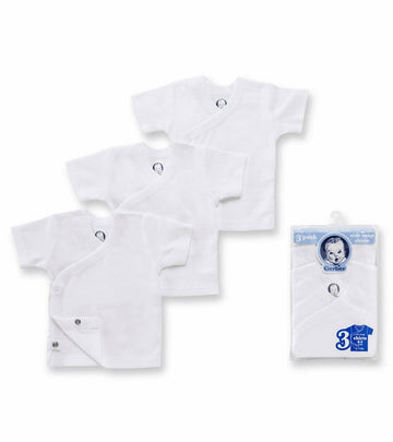 Gerber White 3 Pack Short Sleeve Side Snap Shirts  Modelo 850303230100