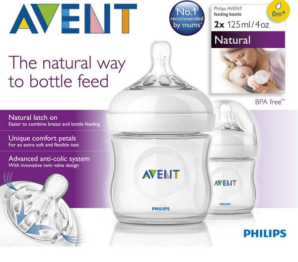 Avent 2 Biberones  125Ml/4Oz Natural  Modelo 8710103561873