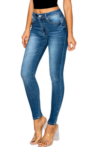 Wax Jean Women's High-Rise Push-Up Repreve Denim  Skinny Jeans 90501
