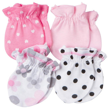 Gerber 4-Pack Girls Pink & Black Mittens  Modelo 930324230