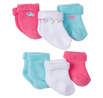 Gerber 6-Pack Girls Little Bird Socks  Modelo 930476060