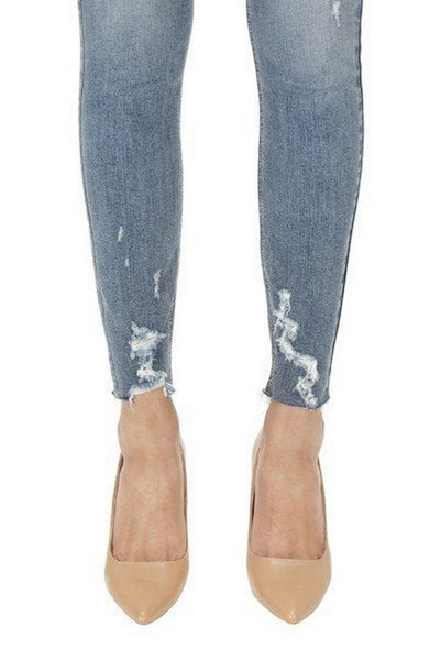Eunina Jeans High Rise Skinny Ankle Courage Modelo 9377