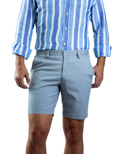 Mozzi Collezioni Men's Cotton Twill Bermudas Light Grey