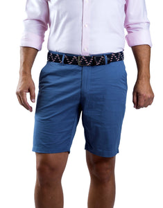 Mozzi Collezioni Men's Cotton Twill Bermudas French Blue