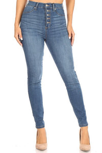 Celebrity Pink High Jeans With Buttons CC23240SS