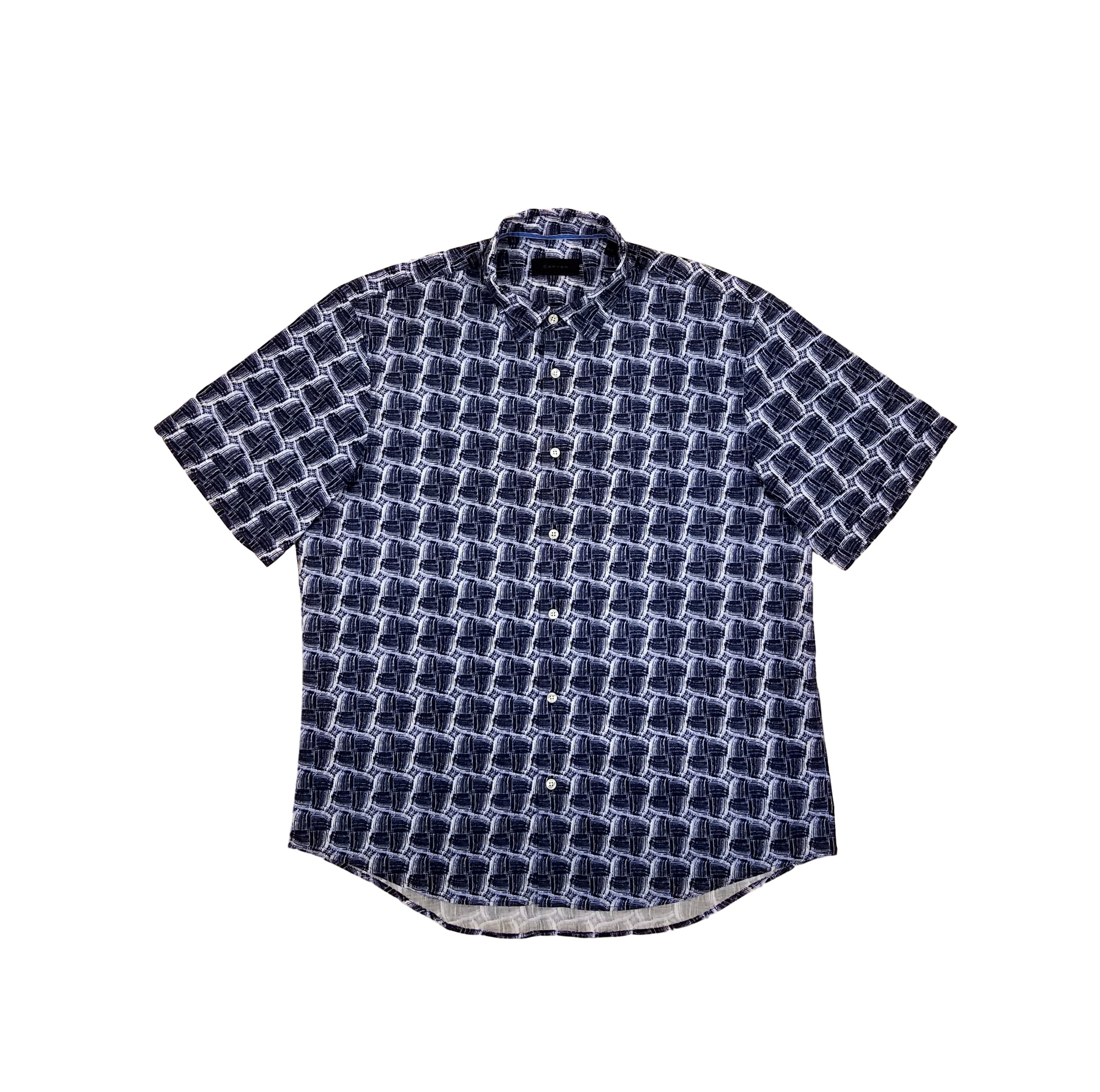 Carven Men's Short Sleeve Print Shirt CV-T02H-033