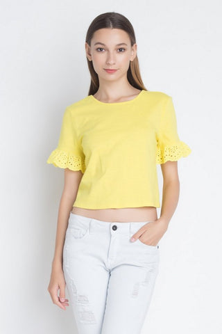 IRIS Short Sleeve Crop Top  IT10138