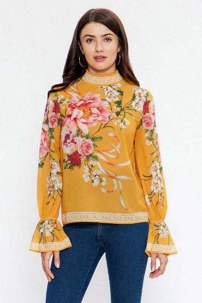 Flying Tomato Stamped Long Sleeve Top  IT10506