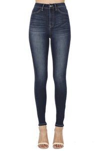 Kan Can High Rise Skinny Jeans Dark Wash  KC1014DH