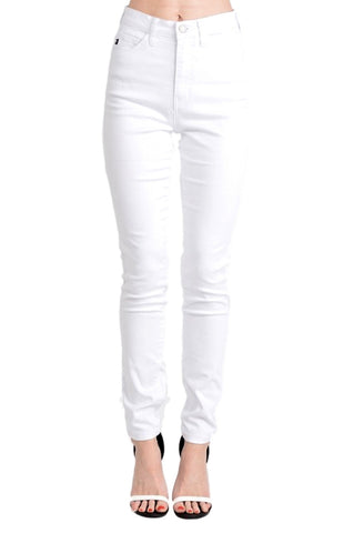 Kan Can Women's High Rise Skinny Jeans White KC5002WT