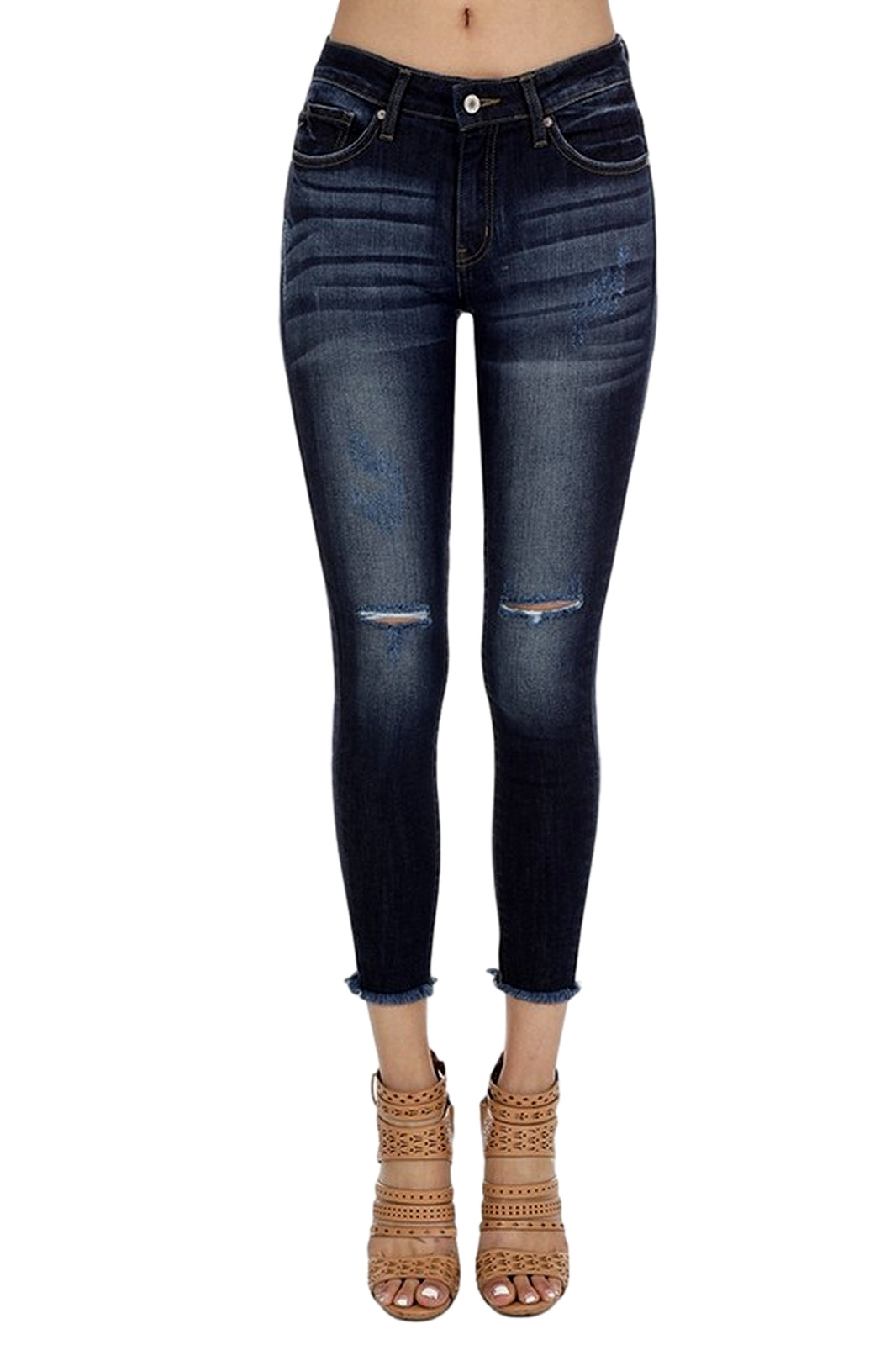 Kan Can Mid Rise Ankle Skinny Jeans Modelo KC6003LD