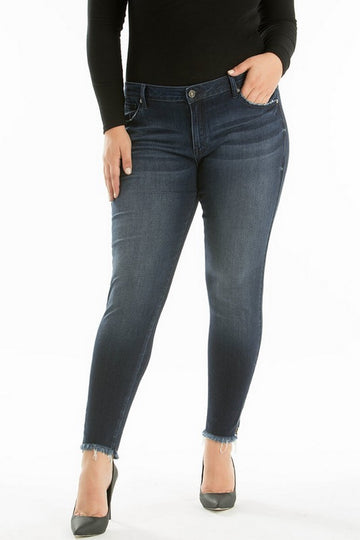Kan Can Mid Waist Plus size Skinny Jeans  KC6051-BIG